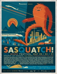 Sasquatch Music Festival Poster by Invisible Creature